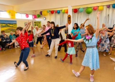 27th August 2019 - Parish Centre, Ballyogan, County Dublin - An Leas Cathaoirleach of D√∫n Laoghaire-Rathdown County Council, Councillor Deirdre Donnelly (centre) joins in the fun at the Tea Dance organised by Exit 15 Community Initiative in conjunction w