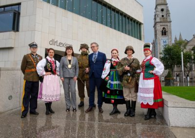 3rd September 2019 - dlr Lexicon Library, Dun Laoghaire - Pictured at the launch of the exhibition 'First to Fight', commemorating the 80th anniversary of the attacks against Poland which started the Second World War, a conflict which took the lives of mi